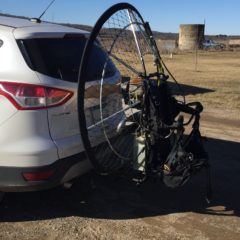 Paramotor Hitch Stand.