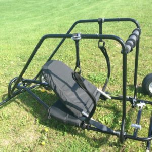 Lowboy powered paraglider
